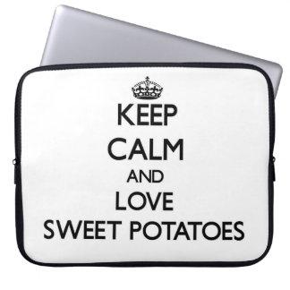 Keep calm and love Sweet Potatoes Laptop Computer Sleeve