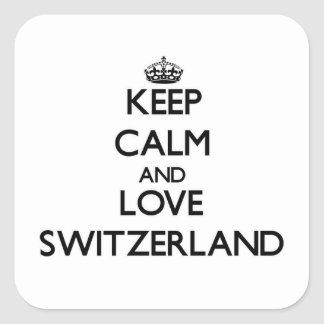 Keep Calm and Love Switzerland Square Sticker