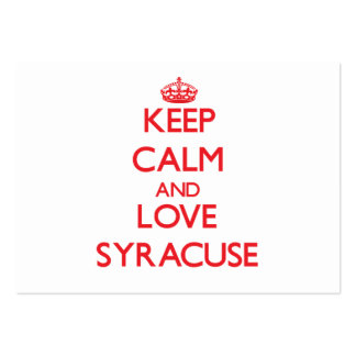 Keep Calm and Love Syracuse Business Cards