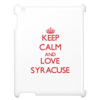Keep Calm and Love Syracuse Cover For The iPad