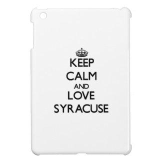 Keep Calm and love Syracuse iPad Mini Covers