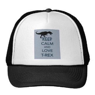 Keep Calm and Love T-Rex original dinosaur design Trucker Hat