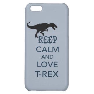 Keep Calm and Love T-Rex unique dinosaur design iPhone 5C Cases