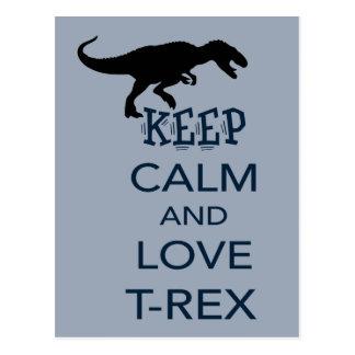 Keep Calm and Love T-Rex unique dinosaur design Postcard