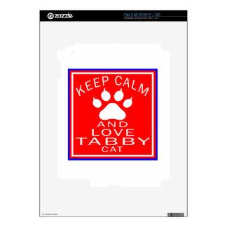 Keep Calm And Love Tabby Decal For The iPad 2
