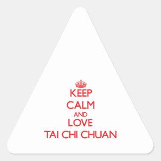 Keep calm and love Tai Chi Chuan Stickers