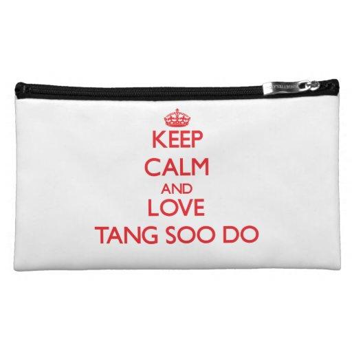 Keep calm and love Tang Soo Do Cosmetics Bags