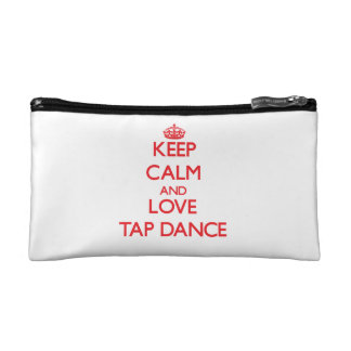 Keep calm and love Tap Dance Cosmetic Bag
