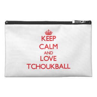 Keep calm and love Tchoukball Travel Accessory Bag