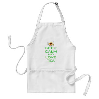 Keep Calm and Love Tea Original Design Adult Apron