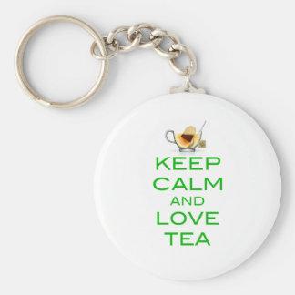 Keep Calm and Love Tea Original Design Keychain