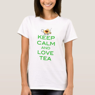 Keep Calm and Love Tea Original Design T-Shirt
