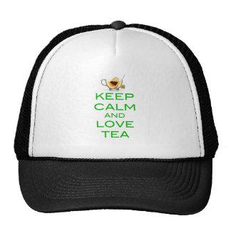 Keep Calm and Love Tea Original Design Trucker Hat