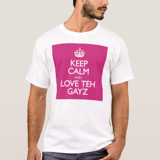 Keep Calm and Love Teh Gayz T-Shirt