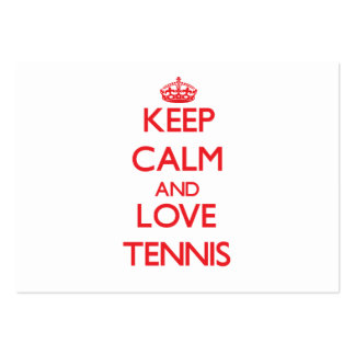 Keep calm and love Tennis Large Business Cards (Pack Of 100)