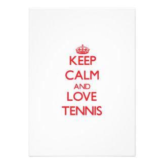 Keep calm and love Tennis Card