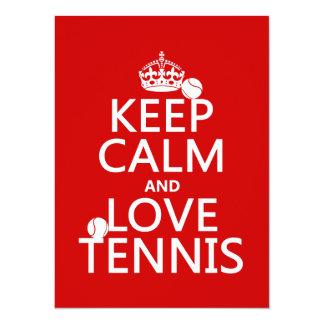 Keep Calm and Love Tennis (customize color) Card