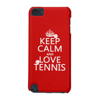 Keep Calm and Love Tennis customize color iPod Touch (5th Generation) Cover
