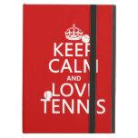 Keep Calm and Love Tennis (customize color) iPad Air Case