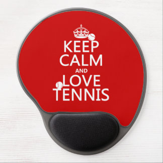 Keep Calm and Love Tennis Gel Mouse Pad