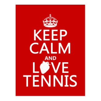 Keep Calm and Love Tennis (in any color) Postcard