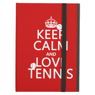 Keep Calm and Love Tennis iPad Air Case