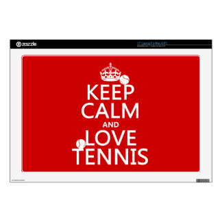 "Keep Calm and Love Tennis Skin For 17"" Laptop"