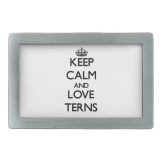 Keep calm and Love Terns Belt Buckles