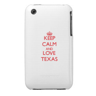 Keep Calm and Love Texas iPhone 3 Covers