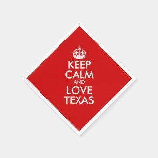 Keep Calm and Love Texas Standard Cocktail Napkin
