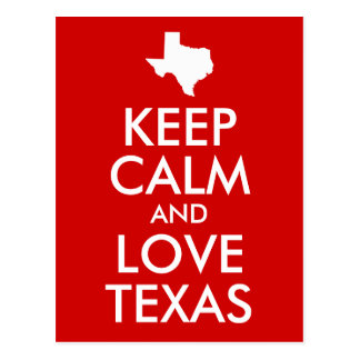 Keep Calm and Love Texas Red Postcard