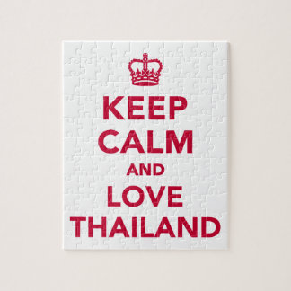 Keep calm and love Thailand Jigsaw Puzzle