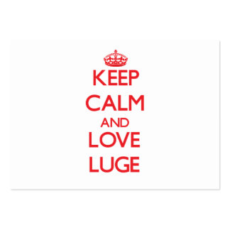 Keep calm and love The Luge Business Card Templates