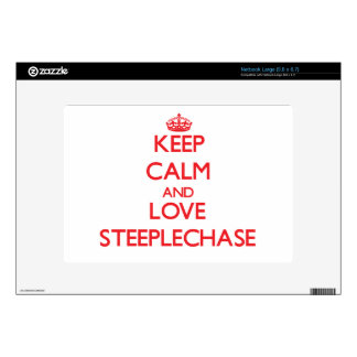 Keep calm and love The Steeplechase Decal For Netbook