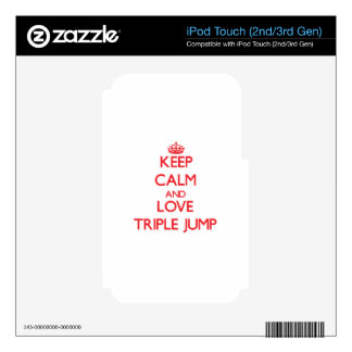 Keep calm and love The Triple Jump Skins For iPod Touch 3G