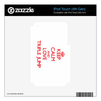 Keep calm and love The Triple Jump iPod Touch 4G Skin