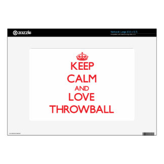 Keep calm and love Throwball Decals For Large Netbooks