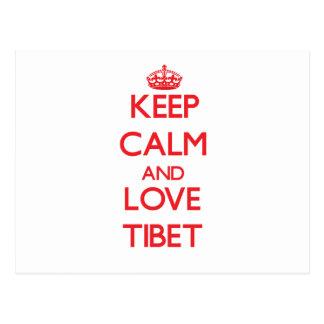 Keep Calm and Love Tibet Postcard