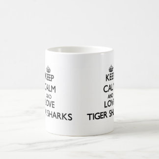 Keep calm and Love Tiger Sharks Coffee Mugs