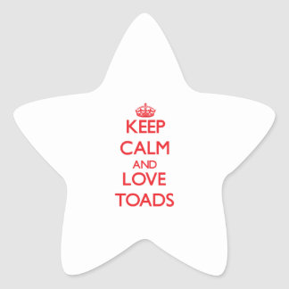 Keep calm and love Toads Star Stickers