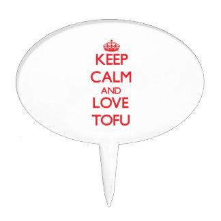 Keep calm and love Tofu Cake Topper