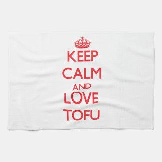 Keep calm and love Tofu Kitchen Towels