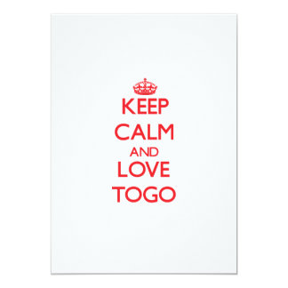Keep Calm and Love Togo 5x7 Paper Invitation Card