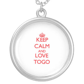 Keep Calm and Love Togo Necklace