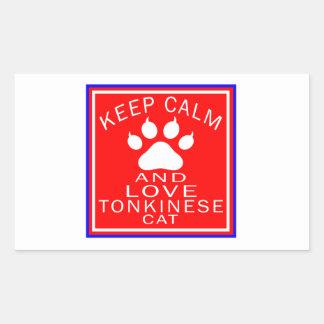 Keep Calm And Love Tonkinese Rectangular Sticker