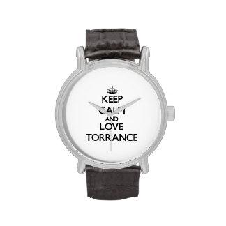 Keep Calm and love Torrance Wristwatch