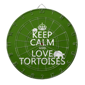Keep Calm and Love Tortoises (any color) Dartboard With Darts