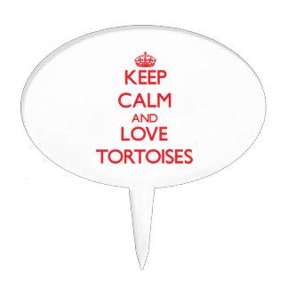 Keep calm and love Tortoises Cake Topper