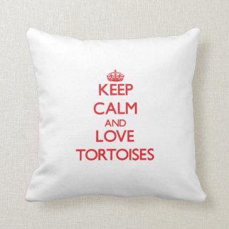 Keep calm and love Tortoises Throw Pillow