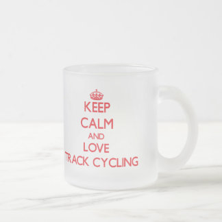 Keep calm and love Track Cycling Coffee Mugs